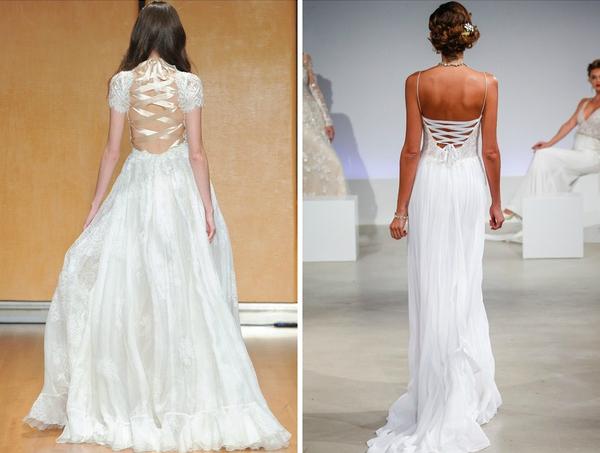 váy cưới đan dây