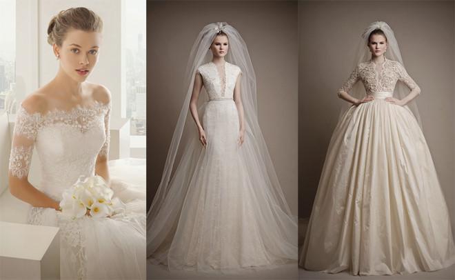 váy cưới cho cô nàng dáng quả lê