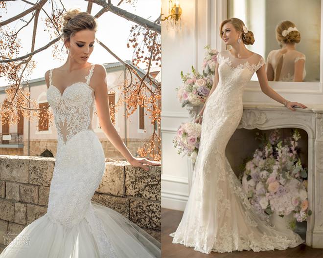 váy cưới cho thân hình đồng hồ cát