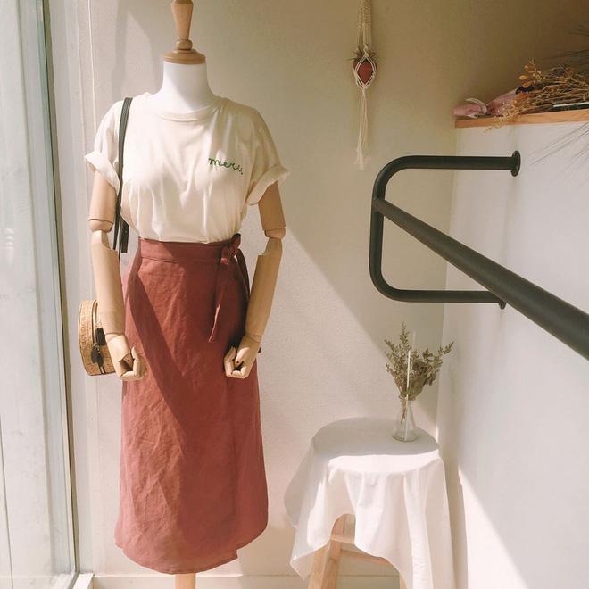 Váy cuốn dáng dài thanh lịch