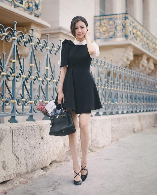 đầm công sở, bộ sưu tập, đầm công sở màu đen, thời trang thu 2017