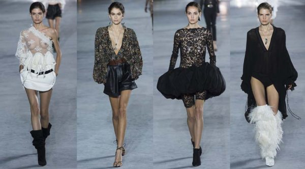 Bộ sưu tập của nhà mốt Saint Laurent, ra mắt tại Paris Fashion Week.
