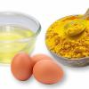 Mặt nạ bột nghệ trứng gà