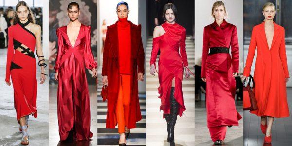 tông màu đỏ được dự báo sẽ làm mưa làm gió trên thị trường xu hướng thời trang thu đông 2018.