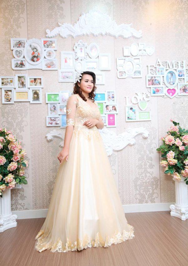 Váy cưới có tay- kiểu váy cưới cho cô dâu mập