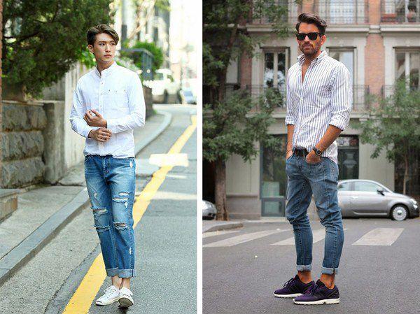 Cách phối đồ với quần jean nam cực ngầu