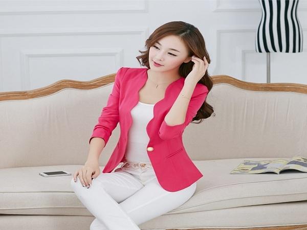 mẫu áo vest nữ không cổ - áo vest nữ cách điệu đẹp nhất