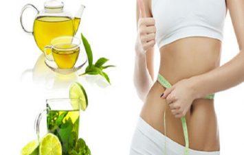 giảm cân bằng chanh và trà xanh