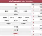 Soi cầu XSQNM 26/1/2021 chốt cặp số may mắn Quảng Nam thứ 3