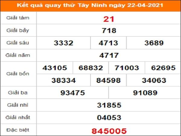 Quay thử xổ số Tây Ninh ngày 22/4/2021