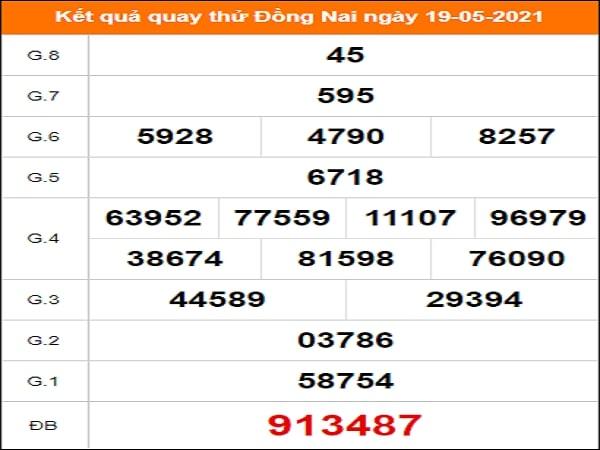 Quay thử kết quả xổ số Đồng Nai 19/5/2021
