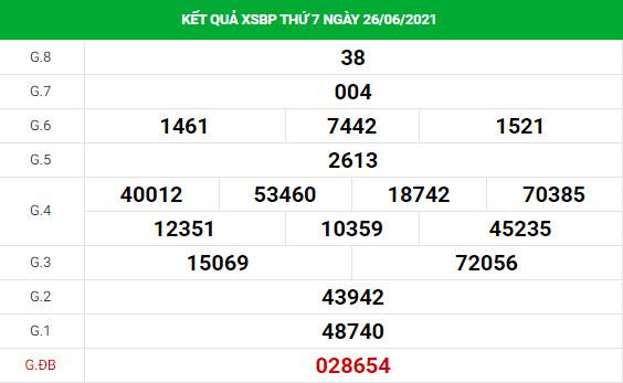 Soi cầu dự đoán xổ số Bình Phước 3/7/2021 Vip chính xác