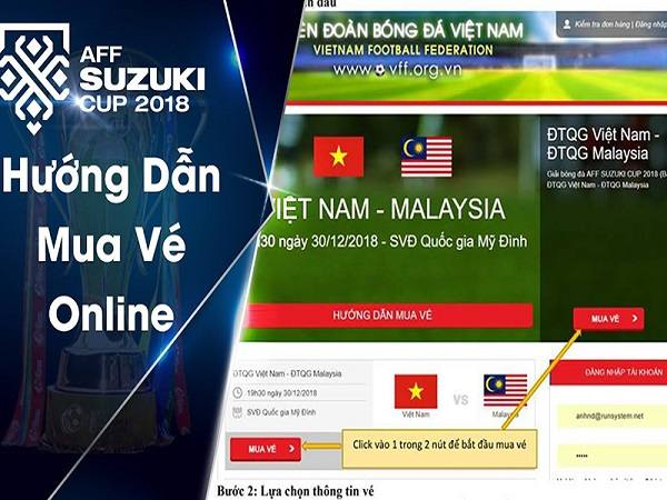 cách mua vé bóng đá online