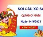 Soi cầu KQXSQNM ngày 14/9/2021